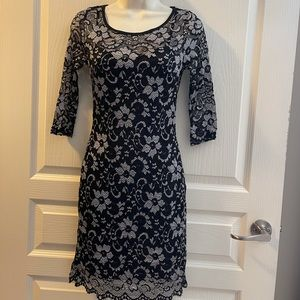 Almost Famous Floral & Lace Dress